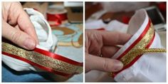 DIY Prince Charming Costume Ribbon Collar Detail