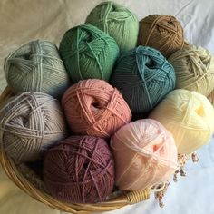 Vintage Stylecraft ..... grape, pale rose, soft peach, cream, parchment, parma violet, storm blue, sage, mocha & mint, ice blue in Stylecraft lite