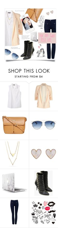 """For my Idol ' Jess Lee '"" by linkfari ❤ liked on Polyvore featuring Banana Republic, River Island, Rika, Dorothy Perkins, Christian Dior, New Look and Balmain"