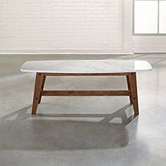 $72 amazon marble top coffee table    Amazon.com: Sauder Soft Modern Cocktail/Coffee Table in Fine Walnut Finish: Kitchen & Dining