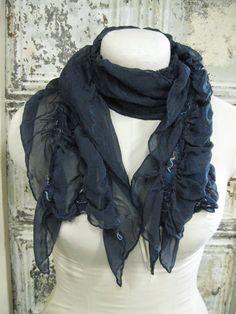 Deep Night Sky nuno felt silk scarf. $45.00, via Etsy.  Lorri Scott's lovely work!