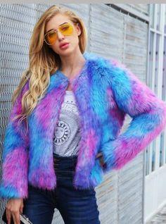 7c1e14a7094 Color Mixing Short Coat Long Sleeve Coat