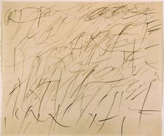 His work makes me dance inside.. | Cy Twombly drawing from 1957