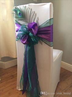 2016 2016 Organza Taffeta Feather Flower Wedding Chair Sashes Romantic Chair Covers Floral Wedding Supplies Cheap Wedding Accessories 02 From Irish_bridal, $4.03 | Dhgate.Com