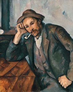 A Pipe smoker by Paul Cézanne at the Mannheim, Germany, art museum