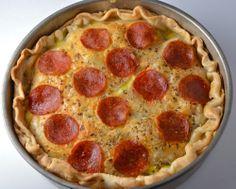 pizza pot pie w/ creamy, cheesy filling