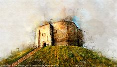 Clifford's Tower / York Castle Abstract Effect - An abstract style side on image of Clifford's Tower / York Castle in York. You Might Also Like...                      All Saints Parish Church in St Ives 1938   A black and white photograph inside All Saints Parish Church in St Ives looking towards the altar. This photo was taken by Will Clough in 1938 and cap...