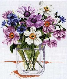 Knitting, crochet, embroidery, sewing and tons of inspiration for your next project. Cross Stitch Alphabet, Cross Stitch Charts, Cross Stitch Designs, Cross Stitch Patterns, Hand Embroidery Tutorial, Embroidery Flowers Pattern, Cross Stitching, Cross Stitch Embroidery, Cross Stitch Flowers