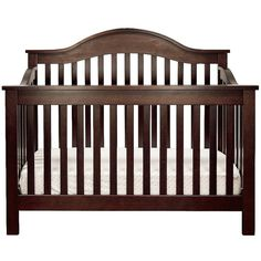 DaVinci Jayden 4 in 1 Crib in Espresso with Toddler Rail ($279) ❤ liked on Polyvore