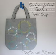 Back to School Tote Bag- perfect for a back to school teacher gift! #michaelsbts