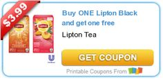 Buy ONE Lipton Black #tea and get one free #coupon