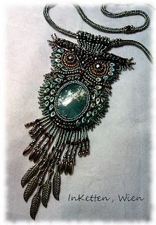 A beaded owl. How cool is that?