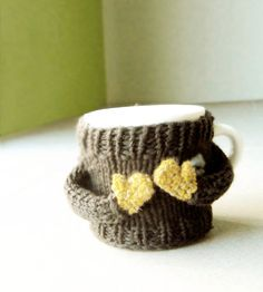 Coffee mug cozy/ cup cosy/ mug sweater for mom by Nawanowe on Etsy, $17.50