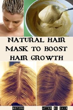 Natural hair mask to boost hair growth