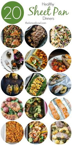 20 Healthy Sheet Pan Dinner Recipes - The Lemon Bowl 20 healthy and delicious sheet pan dinner recipes for you to make tonight! Quick Recipes, Quick Meals, Cooking Recipes, Healthy Recipes, Dog Recipes, Beef Recipes, Pan Cooking, Cooking Pork, Chicken