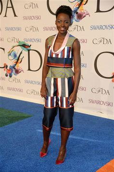 Lupita Nyong'o attends the 2014 CFDA Fashion Awards at Lincoln Center in New York on June 2, 2014.