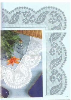 View album on Yandex. Filet Crochet, Crochet Lace Edging, Crochet Symbols, Altar Cloth, Fair Isle Knitting, Fiber Art, Christmas Stockings, Needlework, Diy And Crafts