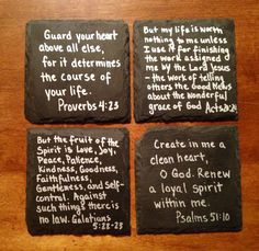 Chalkboard coaster- super easy & cute! Easy to personalize & make your own. Items needed: chalkboard coasters, (found at Michaels for $2.99) sharpie fine point paint marker, (color of your choice) your creativity, & finish with 2 coats of clear acrylic matte coating.