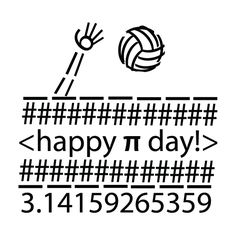 Happy pi day to all the student athletes out there! #volleyball