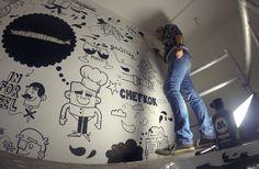 "Mural Restaurant ""Ongedwongen"" on Behance"