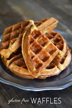 rice cereal waffles. nice and crispy on the outside!