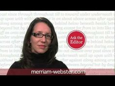 Ending a Sentence with a Preposition - Merriam-Webster Ask the Editor. These videos are so helpful for me to understand grammar, so they most likely will help more future students (if i have internet where I teach).