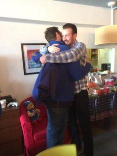 Chris Evans and Chris Pratt at Christopher's Haven on February 6, 2015 via stayflaminsync.tumblr.com