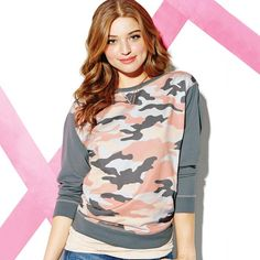 mark. Desert Dream Camo Sweatshirt, on sale $16.99! Be totally on-trend—without blending in with the crowd ;in our oversize sweatshirt featuring a super-cute, unconventionally colored camo front panel. Click for more. #AvonRep