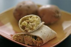 Chicken Curry Wraps with Cashews, raisins, and pineapple (thai inspired)