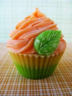 Georgia Peach Cupcake Soap by PitterPatternDesigns on Etsy, $6.50