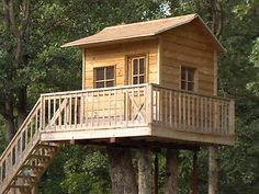 Childrens Playhouse Treehouse Plans, Blueprints For Building Your Own Playhouse