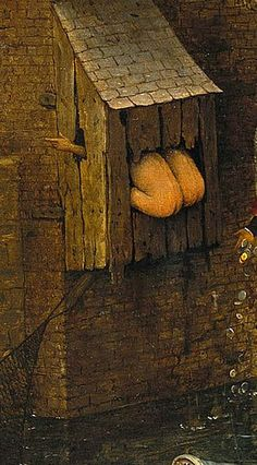 Day What a strange painting. One the one hand you see someone throwing money into the water and on the other sides the booty. Pieter Bruegel the Elder - The Dutch Proverbs, detail, 1559 Medieval Life, Medieval Art, Renaissance Paintings, Renaissance Art, Jan Van Eyck, Pieter Brueghel El Viejo, Pieter Bruegel The Elder, Hieronymus Bosch, Dutch Painters