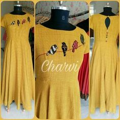 https://www.facebook.com/CharviCollection/ #Anarkali#Applique