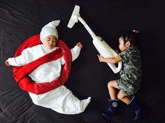 Ayumi Omori Captures Her Sleeping Twins In Imaginative Scenes #inspiration #photography