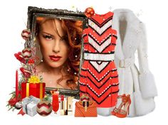 """""""Holiday Cheers!!!"""" by ester-ludwig ❤ liked on Polyvore featuring Balmain, Yves Saint Laurent and Gucci"""