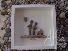 Pebble Art Picture. Unique Gift Idea. New baby.Can be purchased from http://www.amorrusticarts.com/store/c3/Pebble_Pictures.html