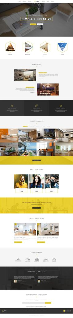 ARC is a clean and creative PSD theme suitable for Interior Design, Home Decor, #Decoration, Art Decor, #Furniture, #Architecture, Business, Corporate #website. Download Now!