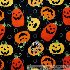 BonEful Fabric Cotton Quilt Orange Yellow BLACK Pumpkin Halloween Dot SALE SCRAP idea the world training craft craft diy craft for kids craft no sew craft to sale Cotton Quilting Fabric, Cotton Quilts, Fabric Scraps, Scrap Fabric, Orange Yellow, Yellow Black, Happy Pumpkin, Black Pumpkin, Blue Quilts