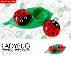 【楽天市場】レディーバグ コンタクトケース てんとう虫 LADYBUG CONTACT LENS CASE KIKKERLAND コンタクト入れ:フォーアニュ