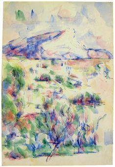 Paul Cézanne - Montagne Sainte-Victoire seen from Les Lauves
