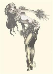 hula girl ~ tattoo idea *;)