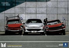 PSA Peugeot 206 206cc 206sw 206rc interesting advertising and post collections  http://www.marxxon.com/newsinfo/487.html