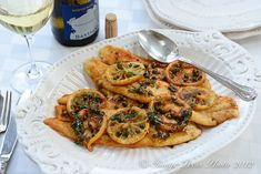 Sole Meuniere (Fieltto di Sogliola al Limone).  I don't usually care for sole but this dish sounds really divine.