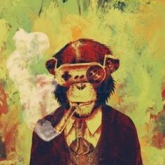 """What would otherwise just be deemed """"cool"""" artwork has an added layer of shock value when you find out what materials the artist uses. Art And Illustration, Art Pop, Game Art, Urbane Kunst, Monkey Art, Monkey Style, Street Artists, Oeuvre D'art, Urban Art"""