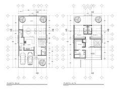 CASAS COMERCIAL DESARROLLOS Y EDIFICIOS CONCURSOS Narrow House Plans, Tiny House Plans, Home Design Plans, Plan Design, Contemporary House Plans, Architecture Plan, Sustainable Living, Future House, Projects To Try