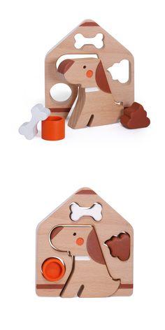 Wooden Dog House Play Set 14-11-2017 Materials: Beech Wood with Acrylic Paint Dimension: @ 105mm x 120mm x 20mm Item code: MIW-WAA-0075 #designedinhongkong #madeinhongkong #makeitworkstudio #wood #beechwood #handmade #toys #doy #play set #handpaint #doghouse