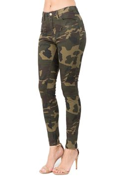 057bc9736a9 Moto Detailed Camo Print Skinny Pants