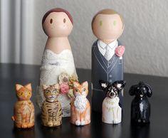 Wedding Peg Doll Cake Topper