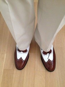 spectator shoes tan and white #spectator#shoes#co-respondent#shoes#two-tone#shoes