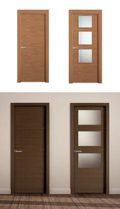 Puerta de Interior Clara | Modelo GANGES de la Serie Tempo de Puertas Castalla. Puerta de Madera clara.